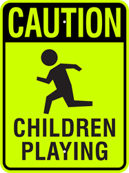 CAUTION - Children Playing (w/ Symbol)