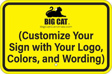 Custom Horizontal Sign  - Type Your Words & Upload Artwork (Screen-printed, 8+ Years Life) No Parking Sign,Custom wording,Beyond this Sign,Here to Corner,In Driveway,Private Parking,This Space Reserved