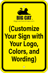 Custom Vertical Sign  - Type Your Words & Upload Artwork (Screen-printed, 8+ Years Life) No Parking Sign,Custom wording,Beyond this Sign,Here to Corner,In Driveway,Private Parking,This Space Reserved