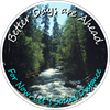 Nature Background (River / Stream) - Better Days are Ahead, For Now Lets Social Distance. Floor Decal (BUNDLE)