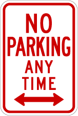 No Parking - Any Time