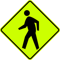 Pedestrian Sign (Symbol) (Screen-printed, 8+ Years Life)
