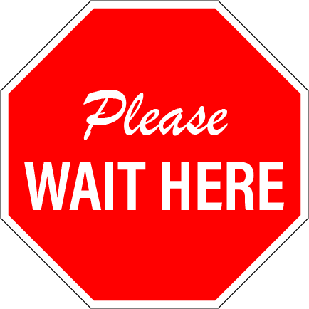 Please Wait Here, Decals for Hard Floors, 10 inch or 12 inch, (BUNDLES of 10 or 8) Quality Anti-Slip Material, Made in USA THANK YOU FOR PRACTICING SOCIAL DISTANCING Remember to Stay 2 Carts Apart (symbols of two shopping carts)