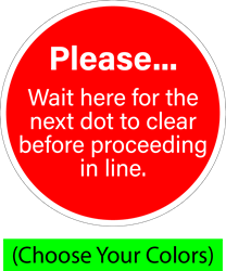 Please wait here for next... (BUNDLE OF DECALS) SOCIAL DISTANCING X