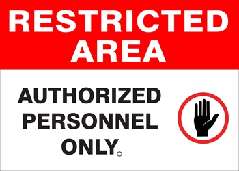 RESTRICTED AREA Sign - (Select Wording) (Screen-printed, 8+ Years Life) Restricted Area sign,all visitors must get pass office,authorized employees only,authorized personnel only,do not enter,do not enter authorized personnel only,keep out;noadmittance employees only,no entry unless authorized,no trespassing,no trespassing under penalty law,no unauthorized personnel beyond this point,only authorized persons,unauthorized persons keep out,video surveillance premises,restricted area sign,metal restricted area sign,aluminum restricted area sign,cheap restricted area sign, inexpensive restricted area sign,good best value restricted area sign,small large restricted area sign,long lasting life restricted area sign,quality restricted area sign,12 18 24 30 36 inch restricted area sign,reflective restricted area sign