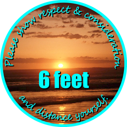 Sunset Background - Please Show Respect & Consideration and Distance Yourself 6ft (BUNDLE OF DECALS)