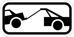 Tow-Away Zone Sign (Symbol) (Screen-printed, 8+ Years Life)