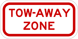 Tow-Away Zone Sign (Screen-printed, 8+ Years Life)