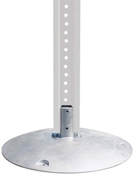 Aluminum Base with Nub sign post base, U-channel sign post base, round sign pole base, square post base, alum. sign base, aluminum sign base, sign post base, sign pole base, sign post accessories, sign pole accessories