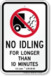SC No Idling - Longer than 10 Min.